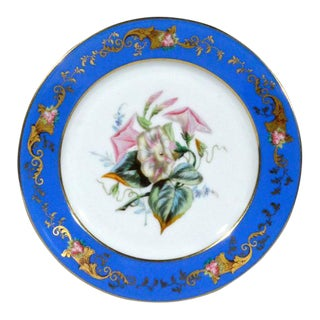 Set of Six Paris Porcelain Botanical & Fruit-Decorated Plates