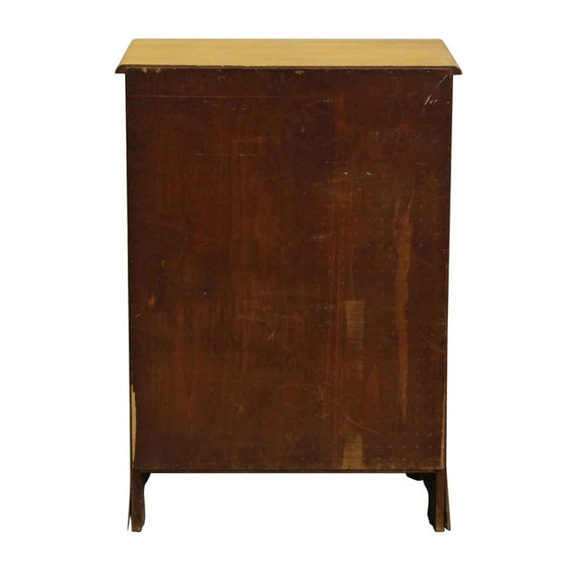 Brown 1940s Four-Drawer Maple Wood Dresser For Sale - Image 8 of 9