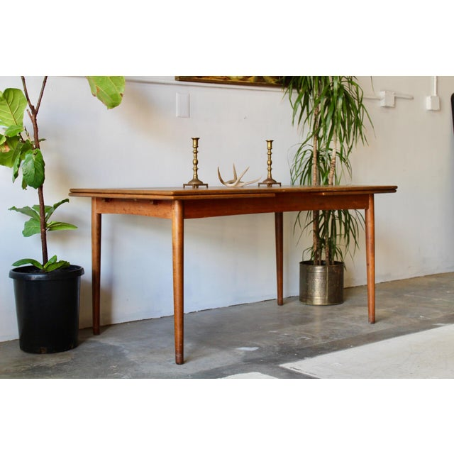 1960's Mid Century Modern Teak Extending Dining Table For Sale In San Diego - Image 6 of 11