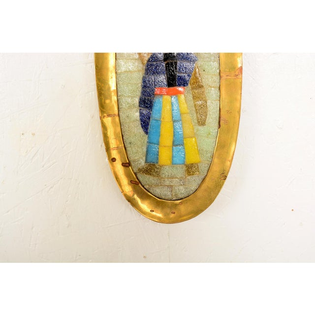 Mid-Century Modern Midcentury Salvador Teran Mosaic Tray / Wall Art, 1950s For Sale - Image 3 of 9