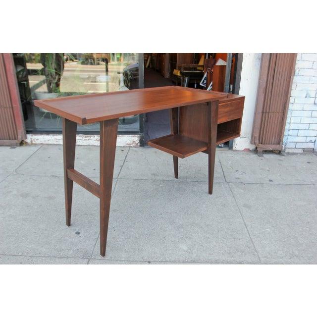 Modern Walnut Writing Desk - Image 7 of 8