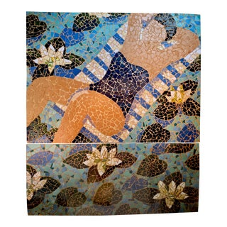 Original Art Summer Mosaic #2 Created for Tiffany & Company Windows New York City For Sale
