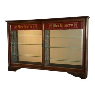 Early 20th Century Store Perfumery Display Cabinet For Sale
