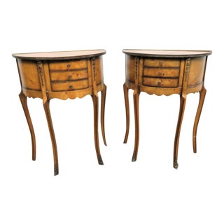 Louis XV Burlwood Ormolu Nightstands - a Pair For Sale