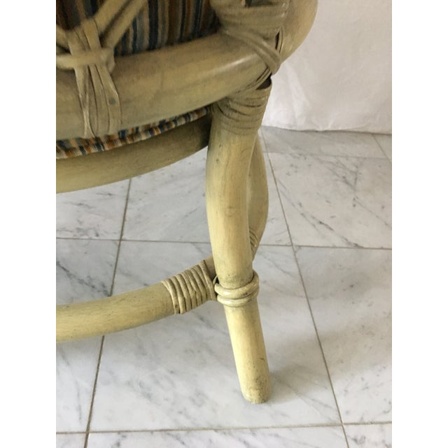 Vintage Green Rattan Fan Back Chair - Image 11 of 11