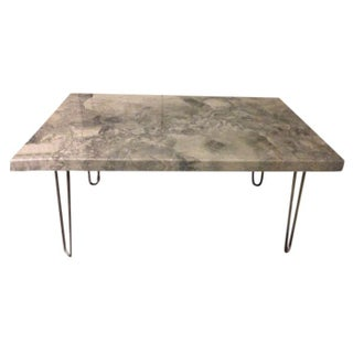 Quartzite Coffee Table with Hairpin Legs For Sale