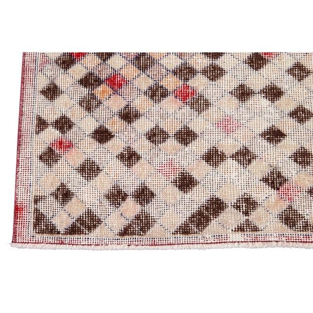 Mid 20th Century Vintage Art Deco Wool Runner Rug For Sale - Image 9 of 12