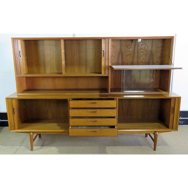 Mid 20th Century Mid 20th Century Vintage Italian Teak Sideboard For Sale - Image 5 of 11