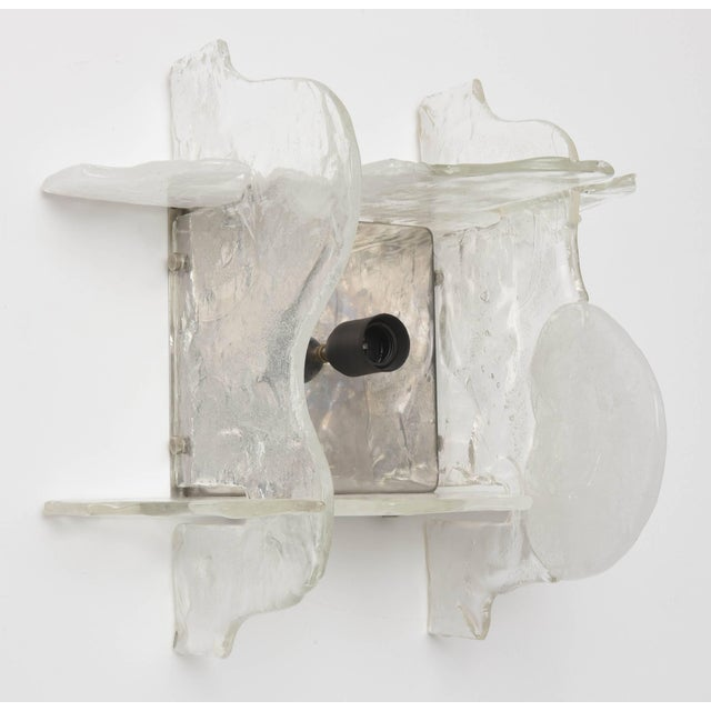 Mid-Century Modern Murano Glass Wall Sconces by Mazzega, Italy, 1960s - a Pair For Sale - Image 3 of 11