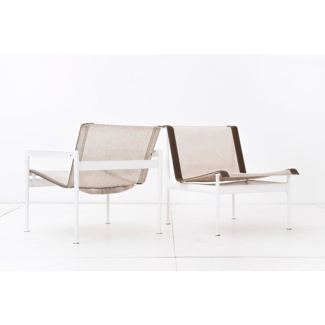 Mid-Century Modern Set of Four Richard Schultz 1966 Series Armless Lounge Chairs For Sale - Image 3 of 7