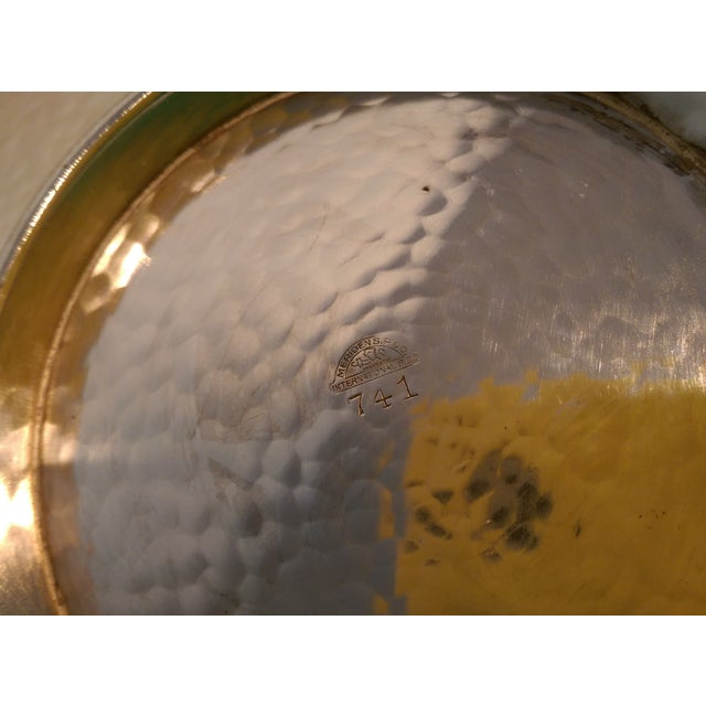 Hammered Silverplate Shallow Dish - Image 6 of 6
