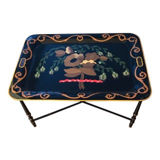 1960s Italian Hand Painted Tray Table For Sale