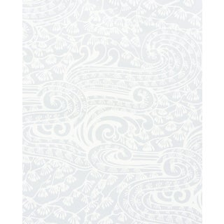 Sample - Schumacher Mizu Wallpaper in Grey For Sale