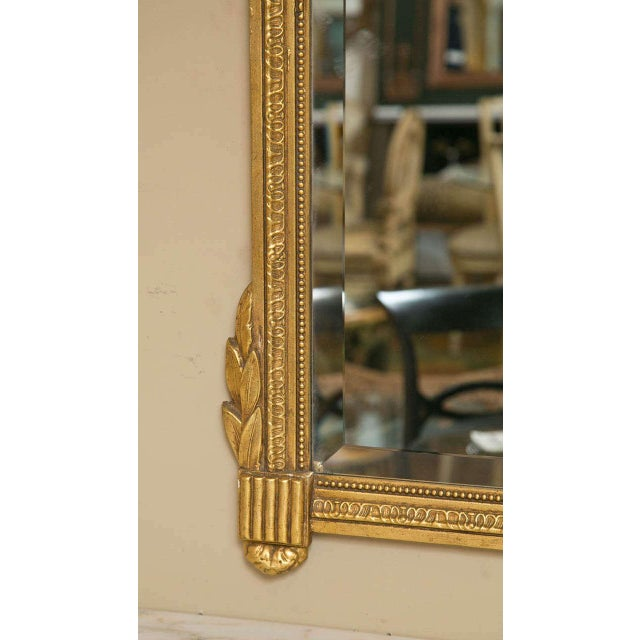 Neoclassical Style Giltwood Mirrors - A Pair For Sale - Image 4 of 7