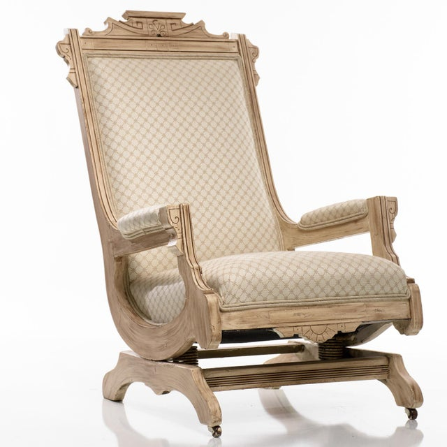 Antique Platform Rocking Chair beautifully detailed wood. The chair's frame  is very solid and has - Antique Platform Rocking Chair Chairish