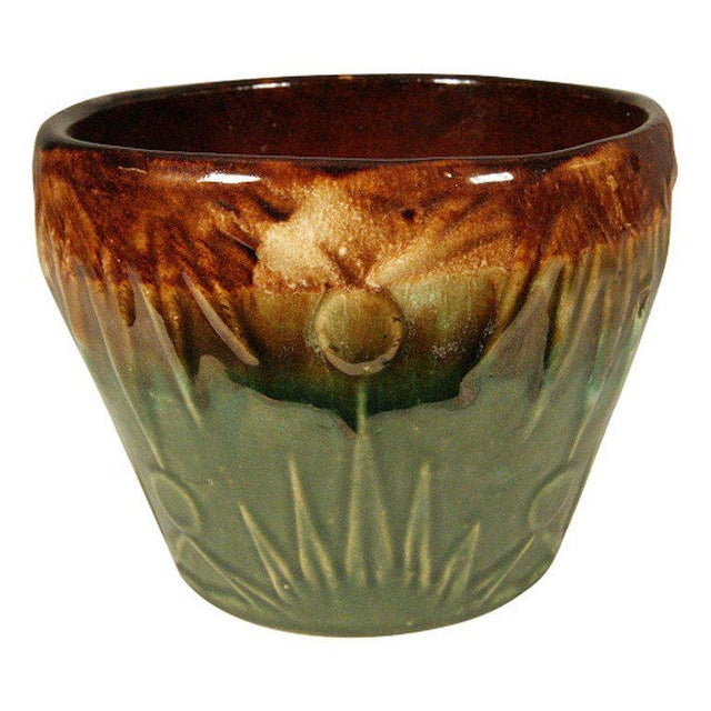 "Robinson Ransbottom Pottery Co. Robinson Ransbottom ""Sunrise / Sunset"" Jardinieres, Set of 3 For Sale - Image 4 of 4"