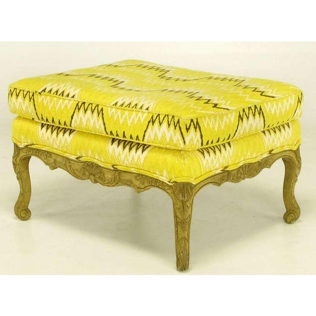 Pair Erwin-Lambeth Louis XV Style Arm Chairs & Ottoman - Image 9 of 10
