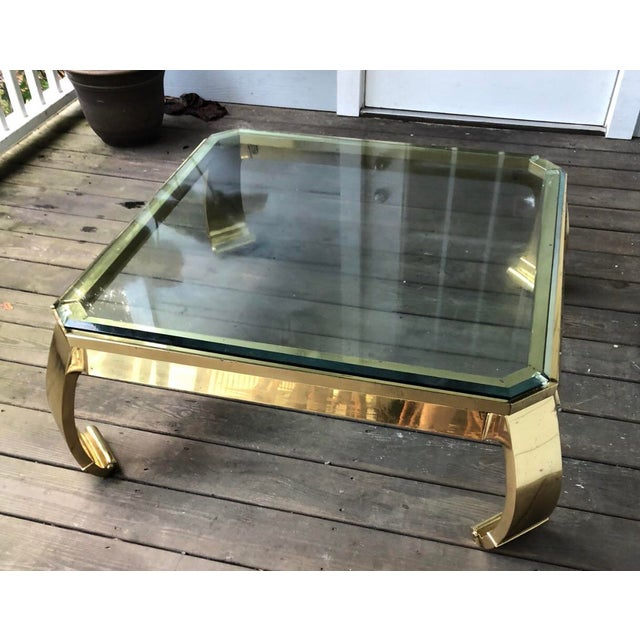 Asian 1980s Ming Mastercraft Solid Brass Coffee Table For Sale - Image 3 of 7
