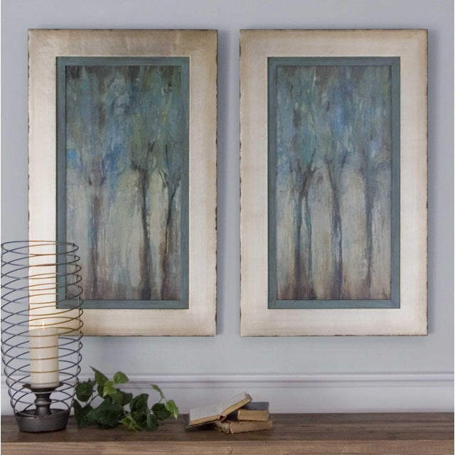 This set of two Uttermost modern oil reproduction landscapes feature a hand applied, dabbed finish atop a print on canvas....