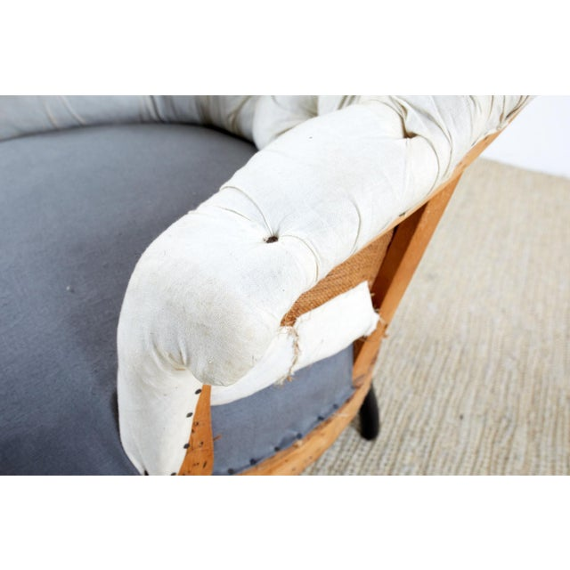 Pair of French Napoleon III Deconstructed Slipper Chairs For Sale - Image 4 of 13