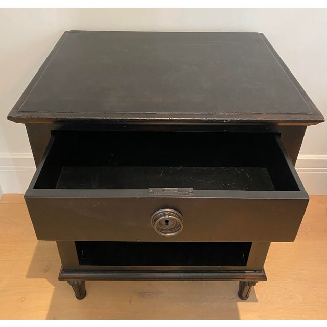 Restoration Hardware Maison 18th Century French Inspired Ebonized Open Nightstands - a Pair For Sale - Image 4 of 7