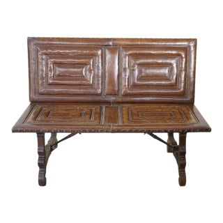 Decorative Leather Bench For Sale