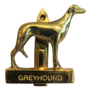 Brass Greyhound Dog Door Knocker