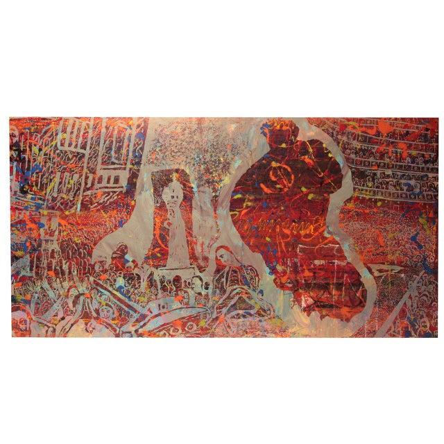 1970s Monumental Steven Sles Painting #1 For Sale - Image 5 of 5