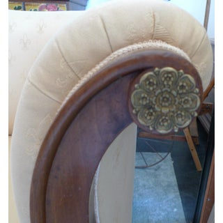 19th Century French Empire Walnut and Fabric Chaise Lounge Sofa Preview