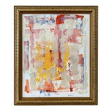 """Image of """"Peaceful"""" Contemporary Abstract Acrylic Framed Painting For Sale"""