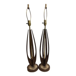 Mid 20th Century Mid-Century Modern Modeline Lamps - a Pair For Sale