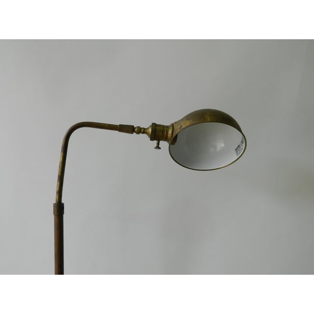 Vintage Brass Dome Floor Lamp - Image 5 of 6