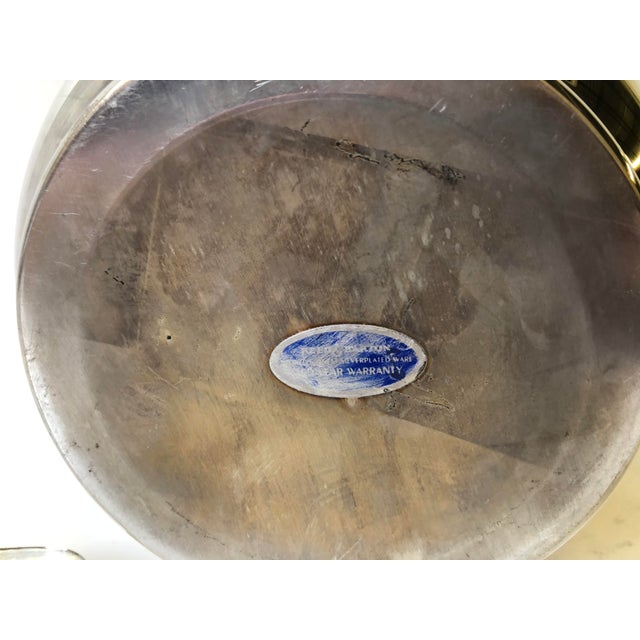 Silverplated Swing Top Ice Bucket and Tongs, Reed & Barton - a Pair For Sale - Image 12 of 13