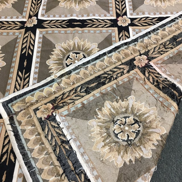 French Hand Woven Aubusson Needlepoint Area Rug - 5′5″ × 9′8″ - Image 5 of 11