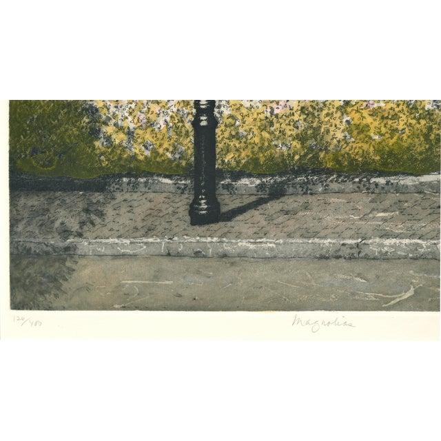 Impressionism Magnolia, Beacon Hill Boston by John Colette For Sale - Image 3 of 5