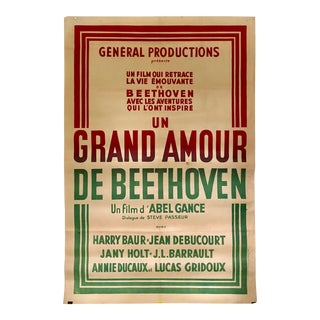 French Antique Beethoven Classical Music Biography Movie Poster For Sale