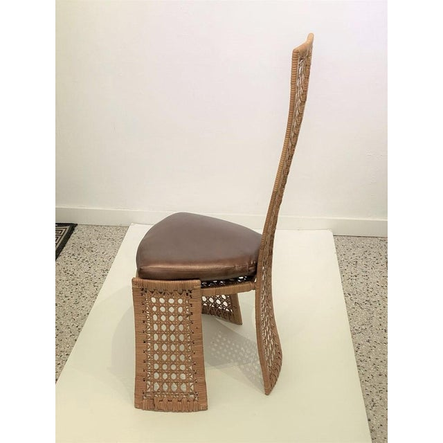 Mid-Century Modern Danny Ho Fong Dining Chairs Rattan Caning - Set of 6 For Sale In West Palm - Image 6 of 13