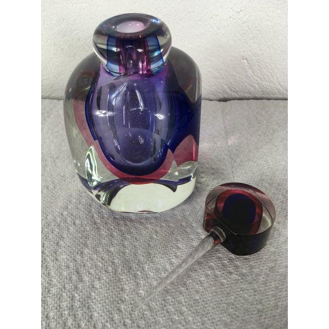 Art Glass Marano Flavio Poli for Suguso Hand Blown Glass Perfume Bottle For Sale - Image 7 of 13