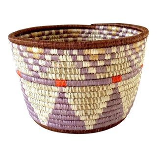 Tribal Style Handwoven Planter/Basket For Sale