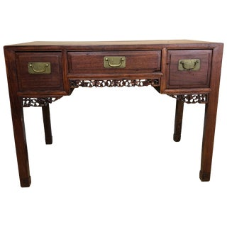 Small Chinese Rosewood Desk, Late Qing Dynasty For Sale