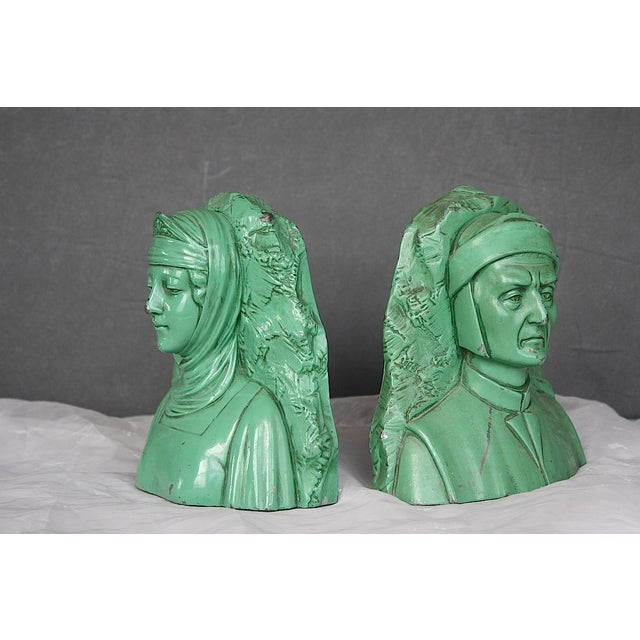 Vintage Dante & Beatrice Jennings Brothers Bookends - a Pair For Sale In New York - Image 6 of 8