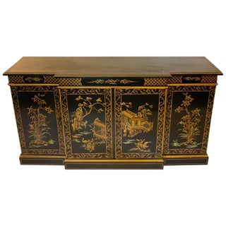 1940s Chinoiserie Console Cabinet For Sale