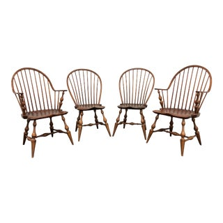 Dr Dimes Loop Back Windsor Dining Chairs - Set of 4 For Sale
