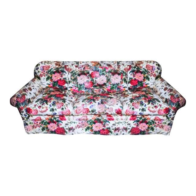 Final Markdown Brunschwig & Fils Postmodern Floral Sofa For Sale