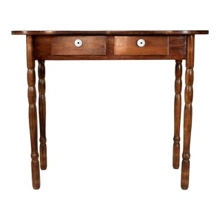 Vintage Petite Desk or Entryway Table For Sale