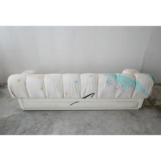 1990s Custom Oversized Post Modern Italian Sofa on Plinth Base For Sale - Image 5 of 9