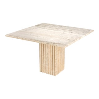 1970s Travertine Dining Table Carlo Scarpa For Sale