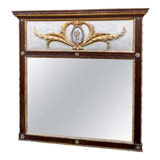 Italian Neoclassic Painted and Gilded Mirror For Sale