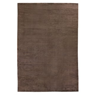 Exquisite Rugs Ives Hand loom Viscose Brown Rug-14'x18' For Sale