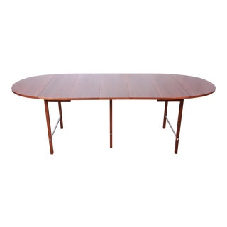 Paul McCobb for Calvin Mid-Century Modern Walnut Extension Dining Table, Newly Restored For Sale